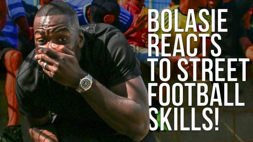 FOUR FOUR TWO   Yannick Bolasie reacts to crazy street football skills!   The Last Stand tournament