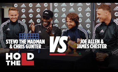 JD SPORTS FOOTBALL   Joe Allen and James Chester Vs Chris Gunter and Stevo The Madman – Hold The L