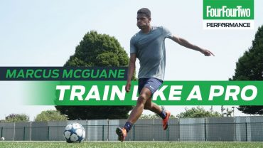 FOUR FOUR TWO | Arsenal wonderkid Marcus McGuane | How to score goals from midfield | Train like a Pro