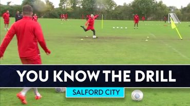SOCCER AM | 60 Second Finishing Challenge | You Know The Drill | Salford City